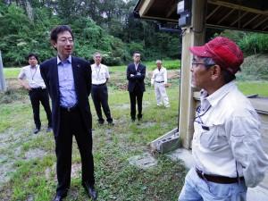 神付ふるさと村 久元市長 産土の森