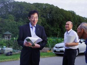 神付ふるさと村 久元市長 視察訪問